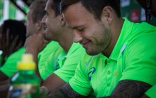 Francois Hougaard and his Blitzbok team met with adoring fans in Cape Town ahead of their clash with Zimbabwe on the weekend. Picture: Anthony Molyneux/EWN