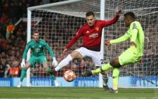 Barcelona beat Manchester United 1-0 in their Champions League quarter-final first leg on Wednesday after a first-half own goal by Luke Shaw at Old Trafford. Picture: @ManUtd/Twitter