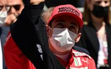 Ferrari's Monegasque driver Charles Leclerc waves prior to the Monaco Formula 1 Grand Prix at the Monaco street circuit in Monaco, on May 23, 2021. Picture: ANDREJ ISAKOVIC / AFP