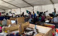 Foreign nationals living at the Paint City Bellville site on 30 April 2021. Picture: Kaylynn Palm/Eyewitness News.