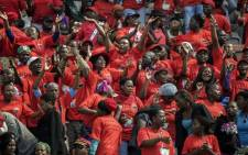 The crowd during Cosatu's Workers Day rally in Polokwane on 1 May 2014. Picture:AFP.