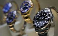 A view of watches by luxury Swiss watchmaker Rolex. Picture: AFP.
