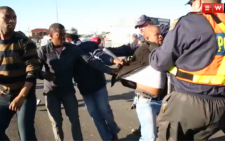 FILE. Violence erupted in George between taxi operators and police. Picture: Thomas Holder/EWN.