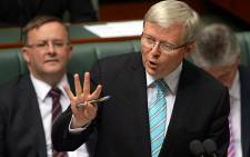 Australian Prime Minister Kevin Rudd. Picture: AFP