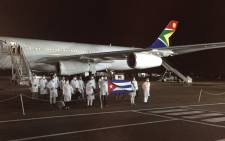 A delegation of over 200 Cuban doctors arrived on Monday morning to help the South African health department fight COVID-19. Picture: Ahmed Kajee/EWN.