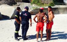 FILE: Rescue officials on scene after a body was reportedly seen floating. Picture: Shamiela Fisher/EWN.