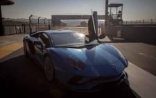The new Lamborghini Aventador S at the Kyalami Racetrack. Picture: Thomas Holder/EWN