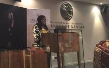 Public Protector Thuli Madonsela addresses the media at the launch of the Nelson Mandela Foundation's civic academy in Houghton on 10 May 2016. Picture: Emily Corke/EWN.