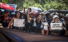 Hundreds of nurses from across the country marched through central Pretoria for better pay and working conditions on 15 February 2016. Picture:Reinart Toerien/EWN
