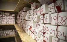 Thousands of phones seized from drivers remain unclaimed in the safe at Cape Town Traffic Services' impound centre. Picture: Aletta Gardner/EWN