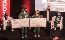 Some of the Olympic and Paralympic medalists receiving their cheques from Toyota on 10 September 2021. Pictures: Abigail Javier/Eyewitness News