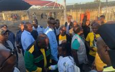 President Cyril Ramaphosa arrives at the Mabopane train station in Tshwane for the ANC's election campaign on 18 March 2019. Picture: Mia Lindeque/EWN