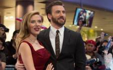 "Cast members of ""Captain America: The Winter Soldier"", Actress Scarlett Johansson and actor Chris Evans. Picture: Facebook."