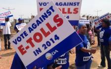 The DA says it has a strong case to have e-toll legislation declared unconstitutional. Picture: Sebabatso Mosamo/EWN