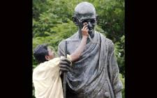 FILE: A statue of India's father of the Nation, Mahatma Gandhi. Picture: AFP.