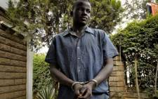 Sydney Nsubuga, alleged killer of gay activist David Kato, was paraded in front of Journalists at the Ugandan media centre in Kamapala on February 3, 2011. Picture: AFP.