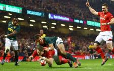 FILE: Wales win 20-11 over the Springboks at the Principality Stadium in Cardiff. Picture: Twitter @Springboks