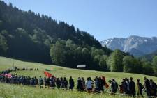 Anti G7-protesters march during a rally in Garmisch-Partenkirchen, southern Germany on 7 June, 2015, prior to the start of the G7 summit. Picture: AFP.