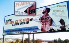 A billboard in Pretoria East promoting the Light of the Nations Church. Picture: out.org.za.