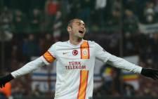 Galatasaray's striker Burak Yilmaz. Picture: AFP