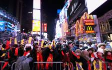 A general view of atmosphere during New Year's Eve 2018 in Times Square on 31 December, 2017 in New York City. Picture: AFP