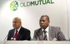 Former finance minister Pravin Gordhan and African National Congress Treasurer General Zweli Mkhize. Picture: GCIS.