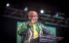 FILE: ANC President Zuma during his final plenary address at the party's national policy conference at Nasrec on 5 July 2017. Picture: Thomas Holder/EWN