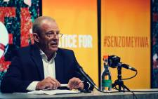 FILE: Advocate Gerrie Nel speaks at AfriForum press briefing on Senzo Meyiwa murder case on Oct 26 2020. Image: AfriForum's Monique Taute
