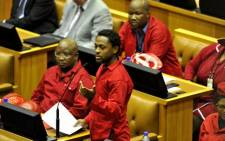 EFF's Mbuyiseni Ndlozi speaks in Parliament. Picture: Supplied.