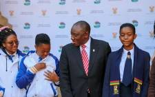 President Cyril Rampaphosa wishes matric pupils well in their upcoming exams. Picture: Kayleen Morgan /EWN.