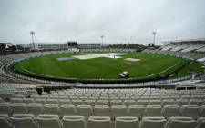 Rain has delayed play at the Hampshire Bowl in Southampton, England during the first session of the  World Test Championship final between India and New Zealand on 18 June 2021. Picture: @ICC/Twitter