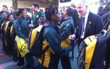 Team SA arrives at the OR Tambo International Airport for their send-off for the 2012 London Games. Picture: Taurai Maduna/EWN