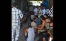 This handout photo taken by Abdul, a refugee on Manus, and released to the media by Australian activist group GetUp on November 23, 2017 shows asylum-seekers at the Manus Island regional refugee processing centre. Picture: AFP.