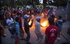 Nelson Mandela Metropolitan University students protest on the campus grounds. Picture: Thomas Holder/EWN