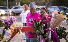 About 3,000 people attended a vigil for Franziska Blöchliger at Tokai Forest in Cape Town to pay their respects with notes and flowers. Picture: Thomas Holder/EWN.