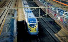 A Eurostar train arriving at Roosendaal station in Roosendaal. Picture: AFP