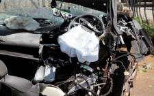 Two people died during a car crash on Oxford Road on 10 January 2013. Picture: EWN