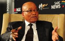 President Jacob Zuma speaks at a New Age Business Breakfast. Picture: GCIS.