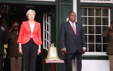 During a three-day trip to Africa, UK prime minister Theresa May visited Cape Town to meet with South African President Cyril Ramaphosa. Picture: Bertram Malgas