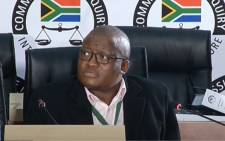 A YouTube screengrab of former National Treasury director-general Lungisa Fuzile testifying at the state capture commission of inquiry in Johannesburg on 11 August 2020.