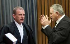 State prosecutor Gerrie Nel and defence advocate Barry Roux.