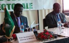 African Union head of Observation team to Madagascar election Ibrahima Fall (L) and Mediator Joaquim Chissano (R) at the press conference declaring Friday's poll free and fair. Picture: Jean-Jacques Cornish/EWN.