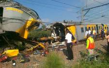 The scene where two trains collided in Atteridgeville on 31 January 2013, injuring over 300 people. Picture: Netcare 911.