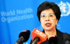 FILE: World Health Organization (WHO) Director-General Dr Margaret Chan gives a press conference in Geneva on 8 August 2014, Picture: AFP.