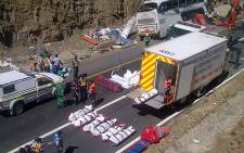 Atlantic Coaches crashed in the Hex River Valley killing 22 people on 15 March 2012. Picture: Renee de Villiers/EWN