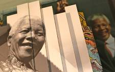 Large posters depicting Nelson Mandela's life are displayed in the Cape Town Civic Centre. Picture: Aletta Gardner/EWN