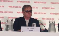 British musician Sir Elton John during a press conference at this year's International Aids Conference in Durban. Picture: Masego Rahlaga/EWN.
