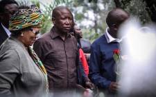 EFF leader Julius Malema at the wreath-laying ceremony at Fourways Memorial Park for the late Winnie Madikizela-Mandela, who died in 2018. Picture: Abigail Javier/EWN