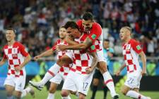 Croatia players celebrate after beating Nigeria 2-0 in a group stage match in the 2018 Fifa World Cup. Picture:  @FIFAWorldCup/Twitter.