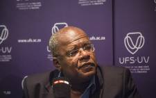 FILE: University of the Free State Vice Chancellor Prof. Jonathan Jansen held a media briefing in Bloemfontein over demonstrations at the university's main campus on 23 February 2016. Picture: Reinart Toerien/EWN.